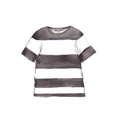 Good objects - Acne Studios Wonder Stripe Tee #acnestudios #stripes #tee #fashionillustration #watercolour #art #illustration #goodobjects