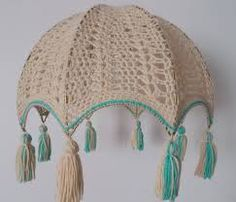Resultado de imagen para pantallas para lamparas al crochet