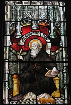 The Venerable Bede, St Nicholas's Cathedral Newcastle upon Tyne. Born about 672 AD renowned linguist, historian and translator, .contributed significantly to English Christianity making writings accessible to his fellow Anglo- Saxons.