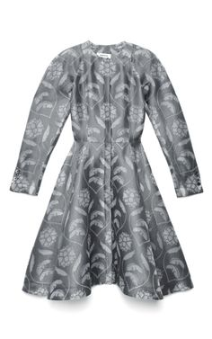 Seersucker Silk Tailored Coat Dress by Thom Browne for Preorder on Moda Operandi