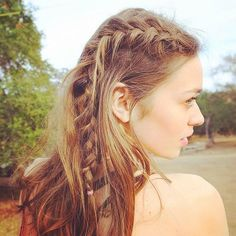 Textured, tousled hair = perfect braids. #urbanoutfitters