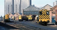 The St Rollox depot in Glasgow's Springburn is due to close after Gemini Rail Services announced proposals to pull out last year. Action Images, British Rail, Electric Locomotive, For Sale Sign, Proposals, The St, Glasgow, Gemini, Trains