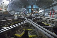 Some amazing engineering going on in NYC's subway system right now. Wish I could watch the construction.
