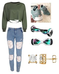 """""""#My Items Challenge"""" by naibelle4230 ❤ liked on Polyvore featuring WithChic and adidas"""