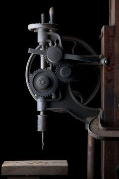 (Antique Drill Press)