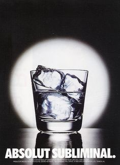 Absolut Vodka 'subliminal' poster