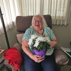 Residents at Courtyard Gardens Retirement Residence in Richmond love when the staff deliver goodies! Look at Joyce's smile! 😄 #vervecares #community #goodies #staysafe #goodtimes Senior Living Communities, Wellness Activities, Courtyard Gardens, Emergency Response, Good Times, Retirement, Community, Smile, Courtyards