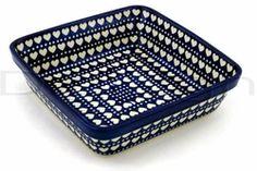 Polish pottery~Square dish