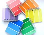 Choose Your Color Paint Sample Notebook. $8.00, via Etsy. I could totally do this for SO cheap!