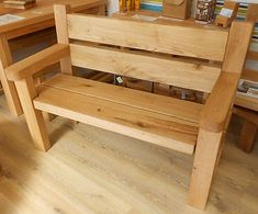 HAND CRAFTED CHUNKY Solid OAK GARDEN PATIO BENCH 4ft Wood Furniture New LA5  =
