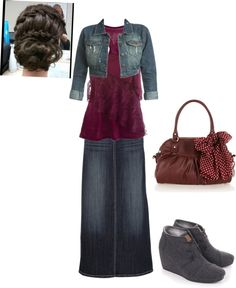 """Untitled #105"" by luvpurple2016 ❤ liked on Polyvore  Not sure about the boots but the outfit is darling."