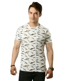 Sapphire Shark Print Half Cotton Round T-Shirt  SELLING PRICE Rs 499 Shop Us Now:- http://goo.gl/Npssju
