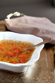 ***Perfect Broth-A Staple of every Polish Kitchen! I Love Food, Good Food, Yummy Food, Soup Recipes, Cooking Recipes, Healthy Recipes, Polish Recipes, Polish Food, Food Design