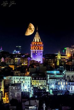 This Pin was discovered by Aki Places To Travel, Places To Visit, Istanbul City, Turkey Travel, Dream City, Night City, Best Cities, Best Vacations, City Lights