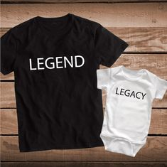 LEGEND LEGACY Matching Parent and Child Tee _ Father and Son Custom Tees _ Custom Tees for Dad _ Family Matching Shirts _ PrimeDecals