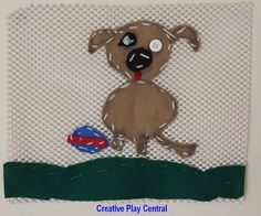 Picture 072 hand stitched puppy drawing