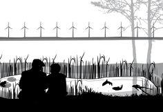 Droombeeld voor een paaiplaats voor vissen aan een oude strandwal aan het Veluwerandmeer. Maurice Wenker_Dienst Landelijk Gebied