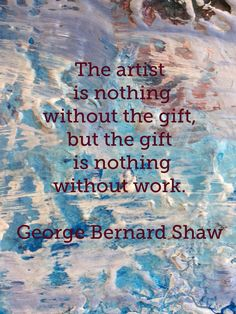George Bernard Shaw quote on my palette. Colorcatstudios101.etsy.com colorcatstudios.blogspot.com #colorcatstudios