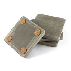 Recycled Concrete Grey Coasters (Set of 4) - the spotted door