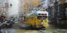 San Francisco Yellow Trolley by Mark Lague.
