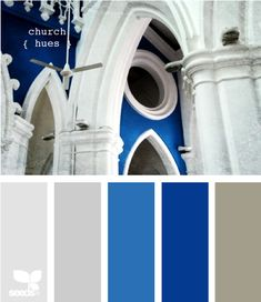 church hues - design seeds - powerful blue :) i liked
