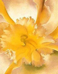 yellow orchid, Georgia O'Keeffe