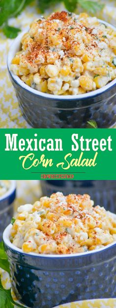 Mexican Street Corn Salad Show You Recipes Mexican Corn Side Dish, Mexican Street Corn Salad, Mexican Street Food, Mexican Dishes, Mexican Food Recipes, Mexican Appetizers, Best Mexican Street Corn Recipe, Corn Salad Recipes, Corn Salads