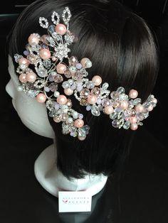 Head piece. Romantic accesories. FB: Alejandra Aceves Diseño de Autor.