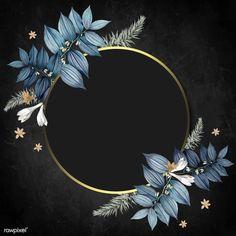 Flowers Black Background, Background Patterns, Cute Wallpaper Backgrounds, Flower Backgrounds, Flower Frame, Flower Art, Rose Gold Frame, Wedding Frames, Snapchat Stickers