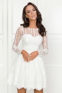ALLISON długi rękaw Alice, White Dress, Wedding Stuff, Dresses, Fashion, Fashion Clothes, Vestidos, Moda, Fashion Styles