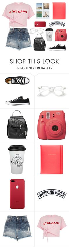 """""""Casual & fun"""" by heolyannabeth ❤ liked on Polyvore featuring Converse, Marc Jacobs, Fujifilm, Polaroid, Kate Spade, Working Girls and River Island"""