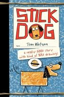 Stick Dog by Tom Watson. Stick Dog and his four friends - Stripes, Mutt, Poo-Poo and Karen - will do anything to steal some sweet-smelling hamburgers from a family at Picasso Park! Find under jSeries: Stick Cat / Stick Dog. Funny Books For Kids, Books For Boys, Childrens Books, Bad Drawings, Figure Drawings, Stick Figure Drawing, Wimpy Kid, Dog Books, Vintage Poster
