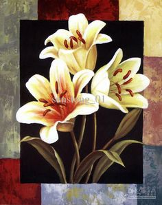 simple floral painting - Google Search