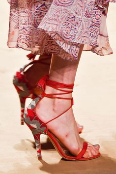Etro Spring 2015... this model has some seriously messed up feet!