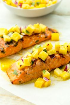 18 Grilled Salmon Recipes You Have To Try This Summer- Grilled Salmon With Pineapple Salsa