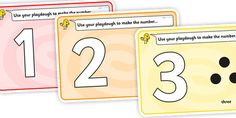 Simple Number Playdough Mats (1-10) - Playdough mat, playdough