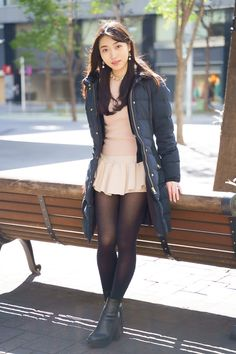 Cute Asian Girls, Cute Girls, Japanese Beauty, Asian Beauty, Stockings And Suspenders, Girl Fashion, Womens Fashion, Black Tights, Girl Outfits