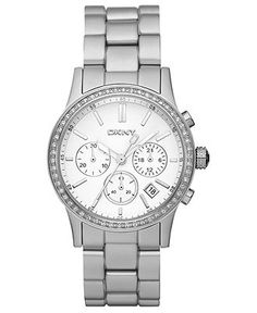 DKNY Watch, Women's Chronograph Silver Tone Aluminum Bracelet 38mm NY8321 - Women's Watches - Jewelry & Watches - Macy's $175.00
