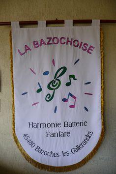 Bannière brodée pour Fanfare musicale