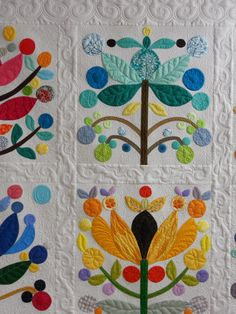 Singing Stitches Quilting Studio: Ginny's Lollypop Tree Quilt in the…