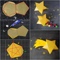 Origami for Everyone – From Beginner to Advanced – DIY Fan Diy Gifts Cute, Diy Gift Box, Diy Box, Gift Boxes, 3d Paper Star, Paper Stars, 3d Star, Diy Paper, Paper Crafting
