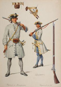 Infanterie française vers 1735, par Lucien Rousselot, Membre de La Sabretache…