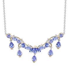 Tanzanite (Mrq) Necklace (18 in) in Sterling Silver Nickel Free TGW 4.470 cts.