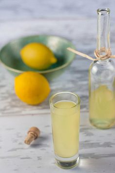 Famous Southern Italy Limoncello...So good. Limoncello is an Italian lemon liqueur mainly produced in Southern Italy, especially in the region around the Gulf of Naples, the Sorrentine Peninsula and the coast of Amalfi and islands of Procida, Ischia and Capri.