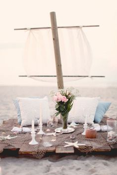 :) Romantic picnic on the beach....