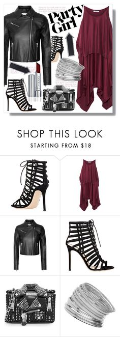 """""""Party"""" by cilita-d ❤ liked on Polyvore featuring Gianvito Rossi, Elizabeth and James, Moschino, Miss Selfridge and Dot & Bo"""