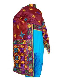 Chanderi Handicraft Dupatta Chanderi Dupatta - Handicraft  Lenght 2.35 Meter, Width 0.88 Meter,  Handwash/Dry Clear  Cloth - Chanderi Shop Now : http://www.jankiphulkari.com/red-chanderi-handicraft-dupatta-jdhck1154