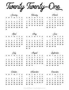 Diy Planner Printables, Printable Yearly Calendar, Planner Pages, Calendar Templates, Free Printables, Blank Calendar, Planner Board, Bullet Journal Books, Bullet Journal Printables