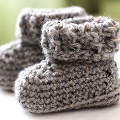The Parker Crochet Baby Booties