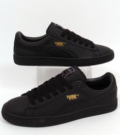 a41f928a7810 Puma panier Classic formateurs en cuir noir